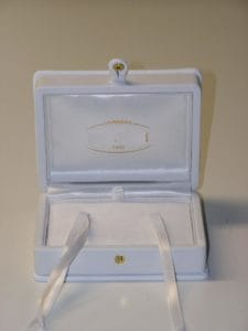 wedding ring box leather