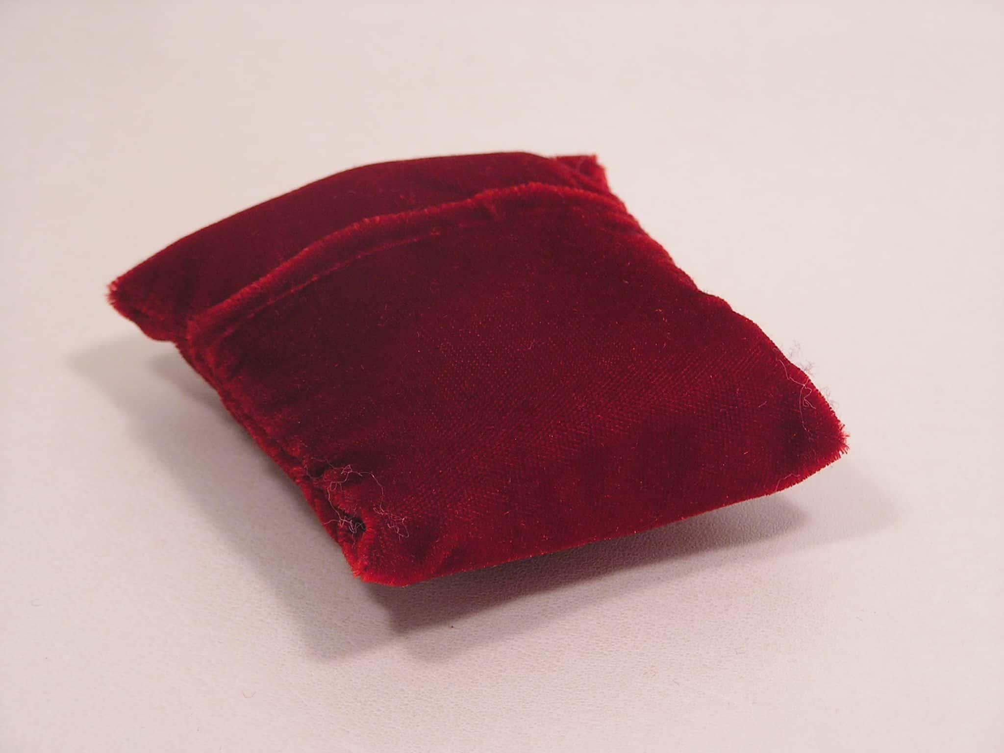 sacchetto velluto cuscino inserto