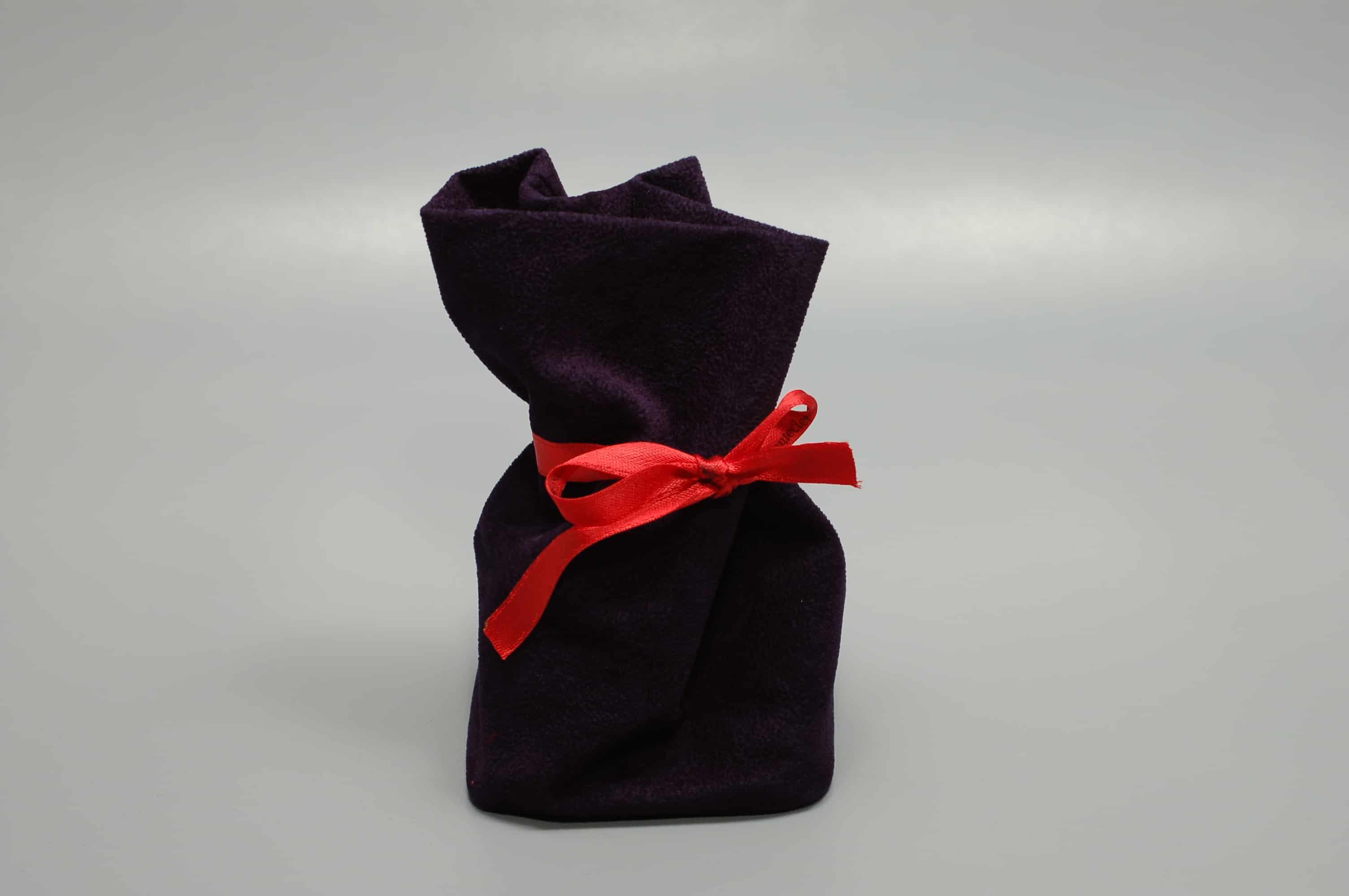 sacchetti quadrati in tessuto floccato