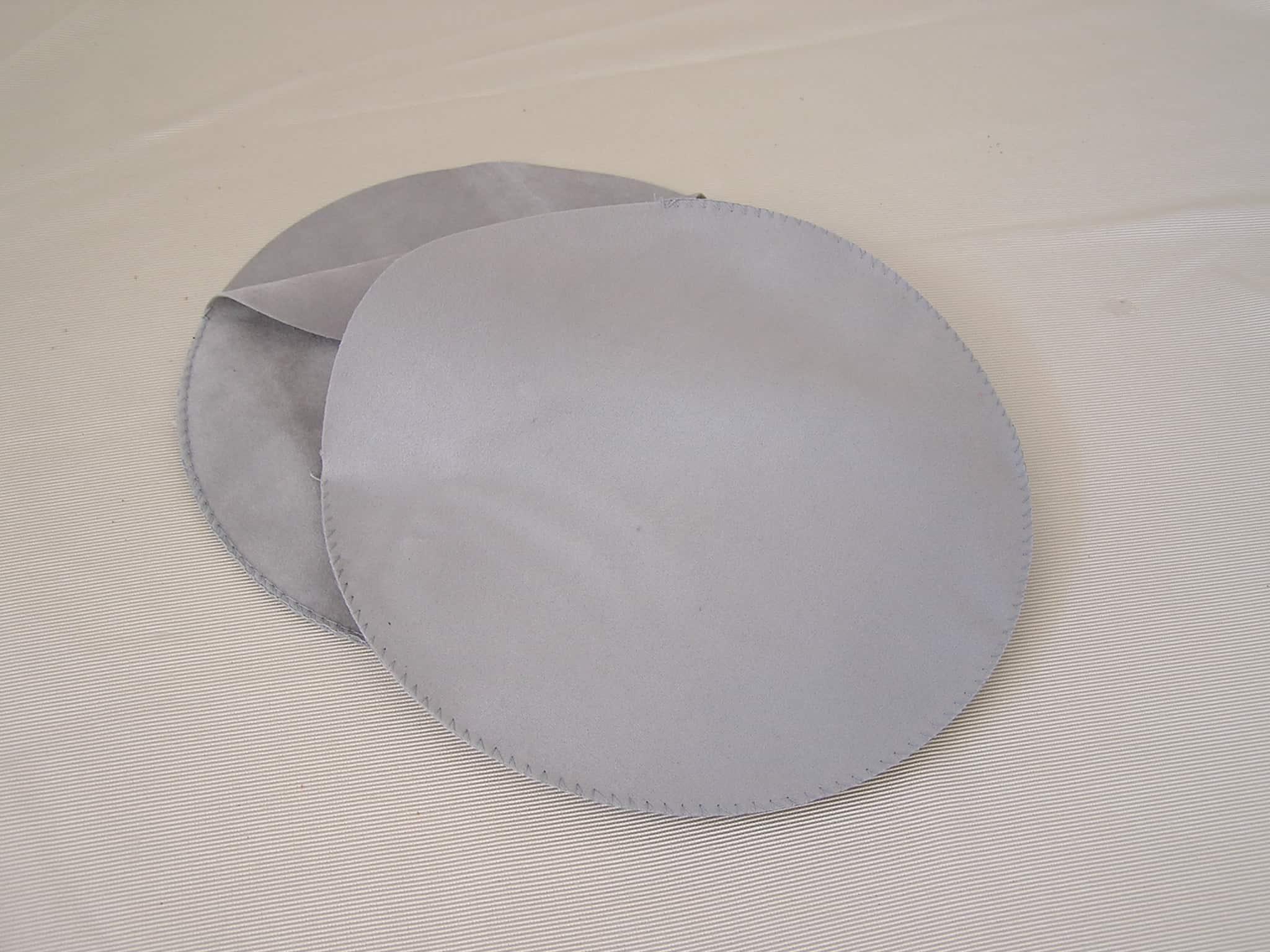 dischi per piatti argento in tessuto