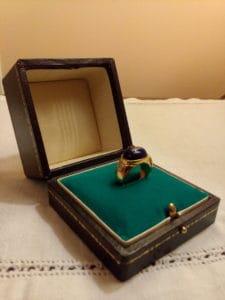 astuccio per anello