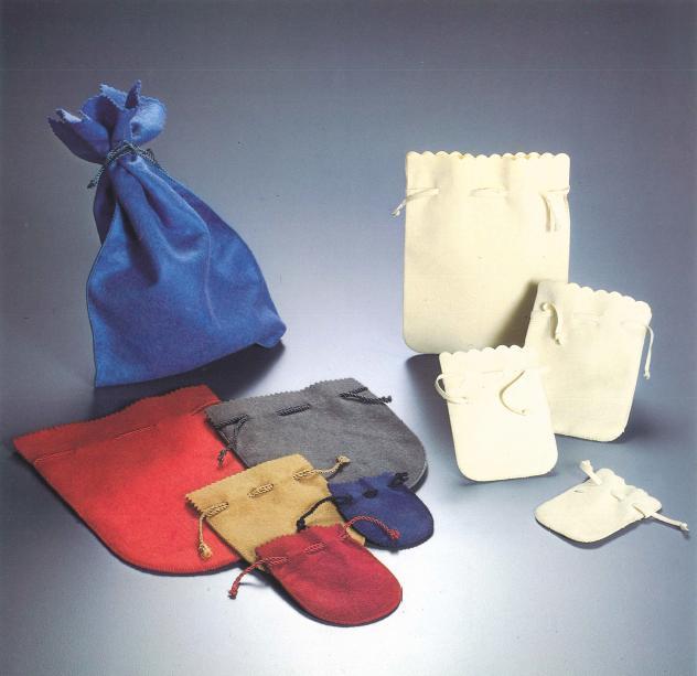 sacchetti in tessuto scamosciato