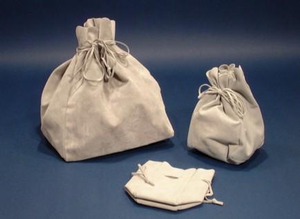 sacchetti in tessuto quadrati