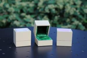 astucci anello velluto verde